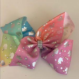 unicorn rainbow jojo bow